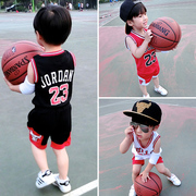 The children of men and women basketball summer baby clothing short sleeved vest suit two pieces 1-2-3-4-5 old clothes
