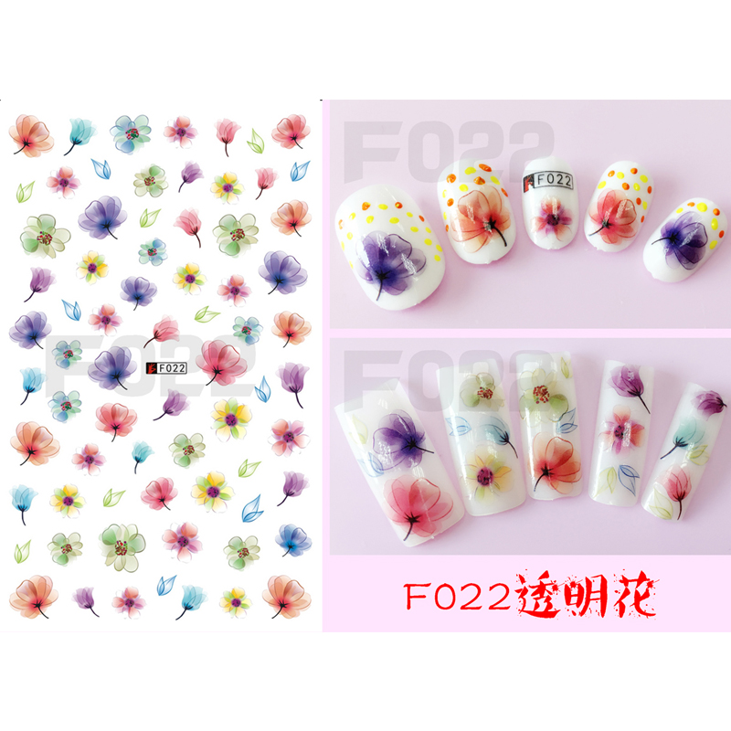 Nail Sticker Ornaments Nail Sticker South Korea Waterproof 3D Nail Sticker Net Red Nail Sticker Sticker F022