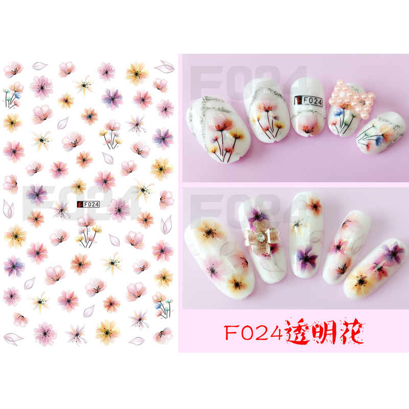 Nail Sticker Ornaments Nail Sticker Korea Waterproof 3D Nail Full Sticker Net Red Nail Sticker Sticker F024