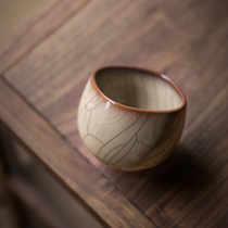 Longquan tea cup personal special celadon handed down from generation to generation Ge Kairen cup single cup high-end ceramic Kung Fu tea ware sample tea cup