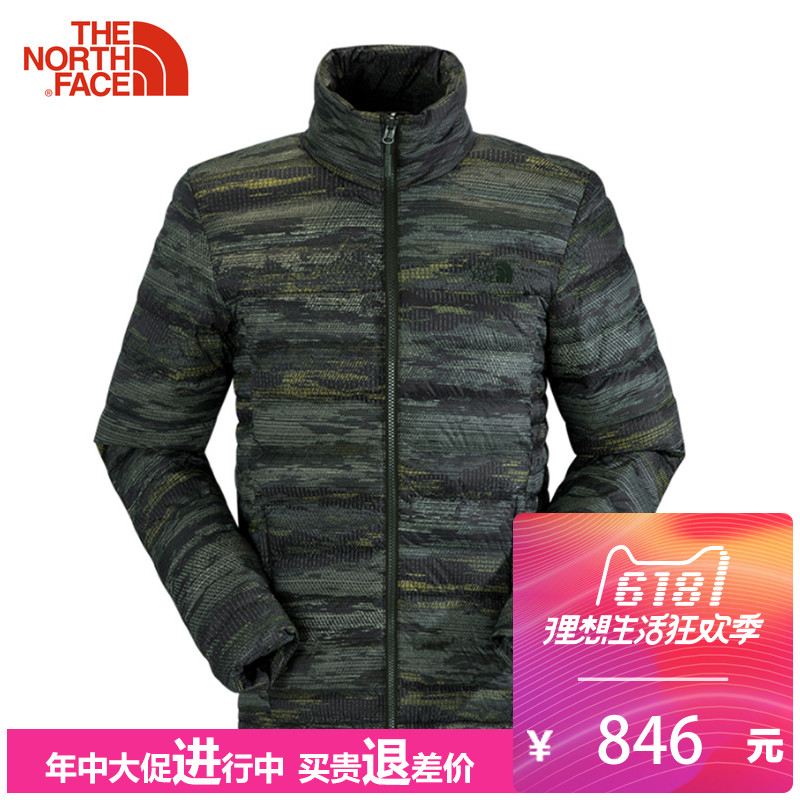 The North Face Down Garment Casual Outdoor Jacket for Men with 35E8/3KTE/3KTF