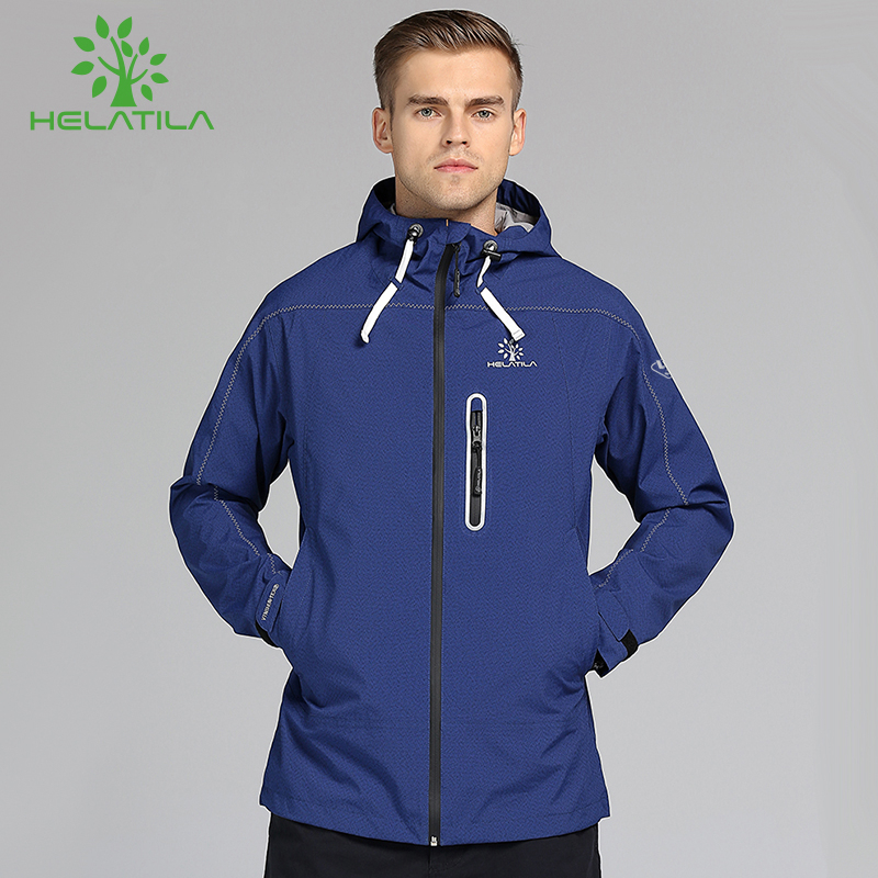 Helatila Charge Jacket Men's Single Layer Thin Spring and Autumn Wind and Rain-proof Outdoor Cap Couple's Jacket