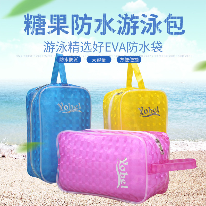 Portable Waterproof Transparent Hand-held Crystal Bag for Men and Women