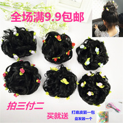 The children head head girl wig hair hair hair ball device simulation package flower girl