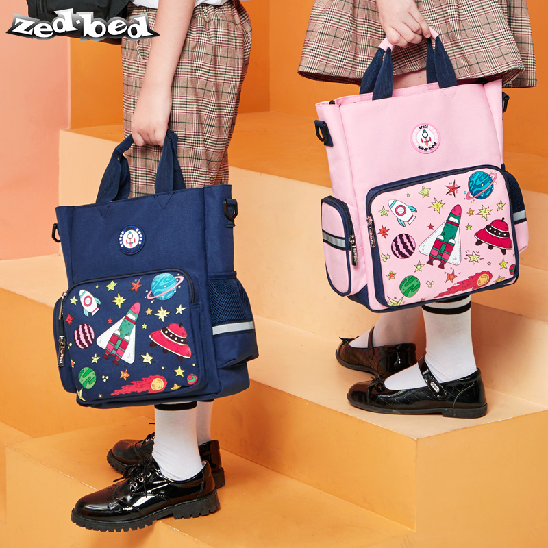 Pupils'space tutorial bags Middle school students' handbags canvas bags Single shoulder schoolbag oblique Bag for boys and girls