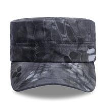 Bouclier lang tactique camouflage cap noir python motif pour la formation cap hommes et femmes dété militaire formation Cap Forces Spéciales armée ventilateur plat cap