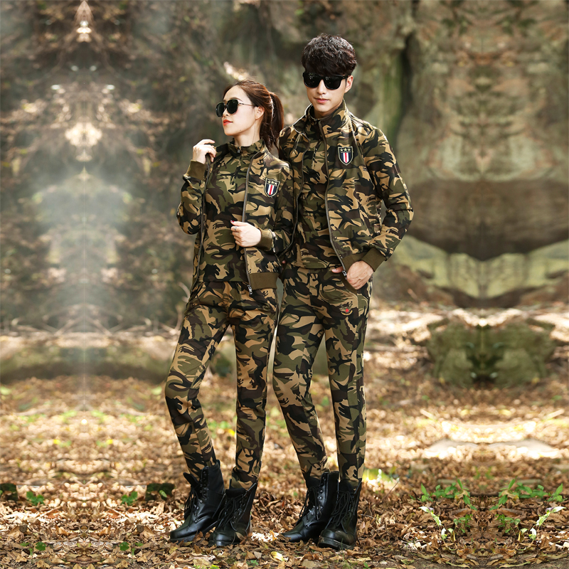 Lovers'Spring and Autumn Camouflage Suit Wear-resistant Outdoor Army Suit for Men and Women Summer Special Forces Field Work Uniform