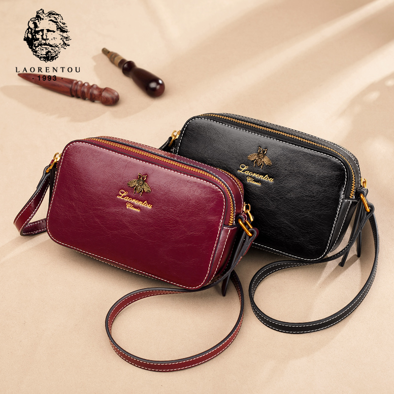 The Old Man's Head Bag Women's New Korean Version Chao Baitao Fashion Leather Personality Texture Retro Single Shoulder Slant Bag