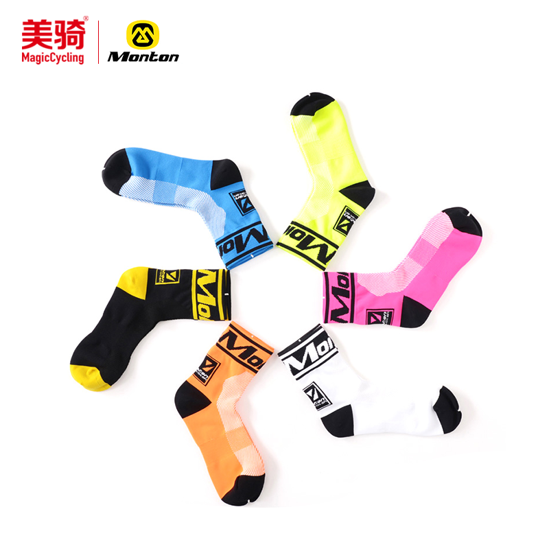 Monton cycling, Monton cycling socks short tube autumn and winter unisex outdoor sports wear deodorant bicycle socks