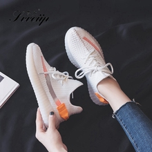 Coconut shoes women's 2019 new summer breathable versatile sports running casual shoes ins net red small white shoes women's fashion