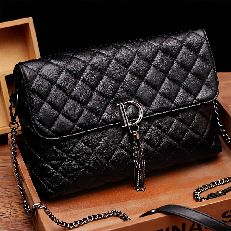 Yulin 2018 autumn new chain fashion handbags wild temperament shoulder Messenger bag soft leather rhombic small bag