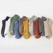 Socks mens summer thin cotton-soled socks sports sweat-absorbing anti-smelling invisible socks mens shallow mouth low-cut short barrel ins tide