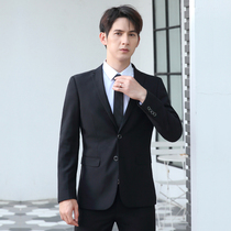 Suit suit mens professional bridesmaid Han version wedding business dress jacket slim casual small suit man to work