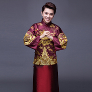 Chinese style wedding dress Nicky Wu with Xiu he clothing MENS MEN groom toast clothing cheongsam gown dragon Costume