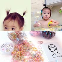 Jaune bébé Bébé Cheveux Anneau Jetable Pas mal de cheveux TPU en caoutchouc bande femelle bébé tête corde cravate tweeté petit cercle en caoutchouc bande