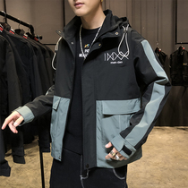 Jacket Mens spring and autumn 2020 Korean version of the trend of casual wear wild mens winter workers can Jacket Men
