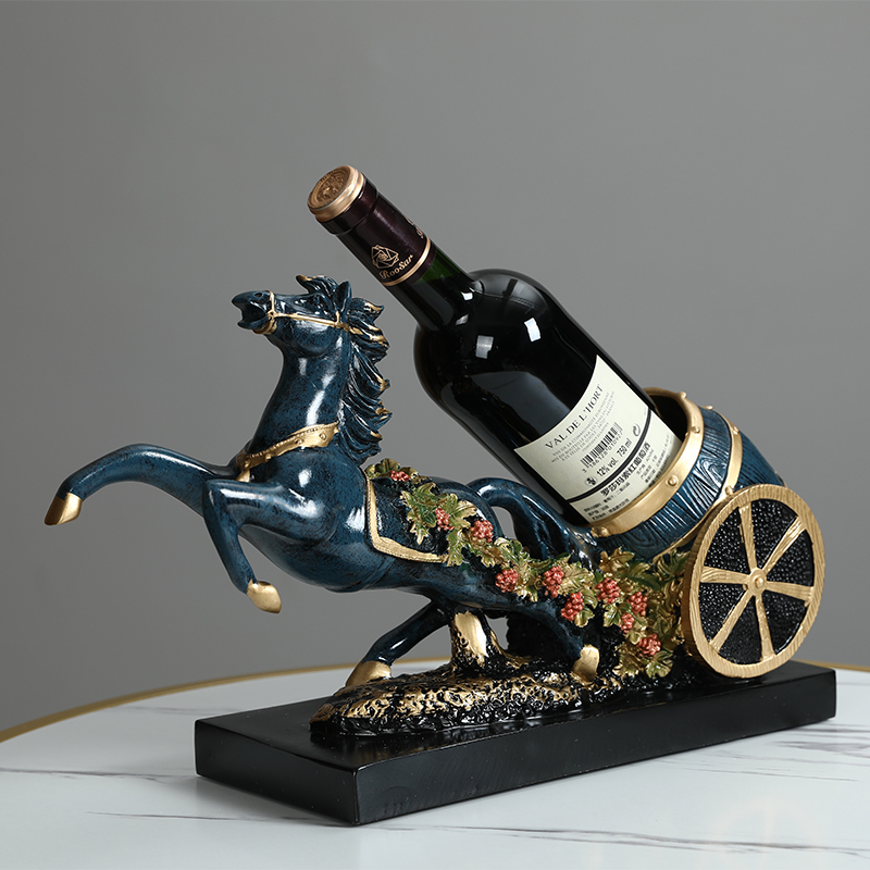 Lucky horse cart wine shelf wine cabinet decoration decoration living room TV cabinet home accessories American crafts