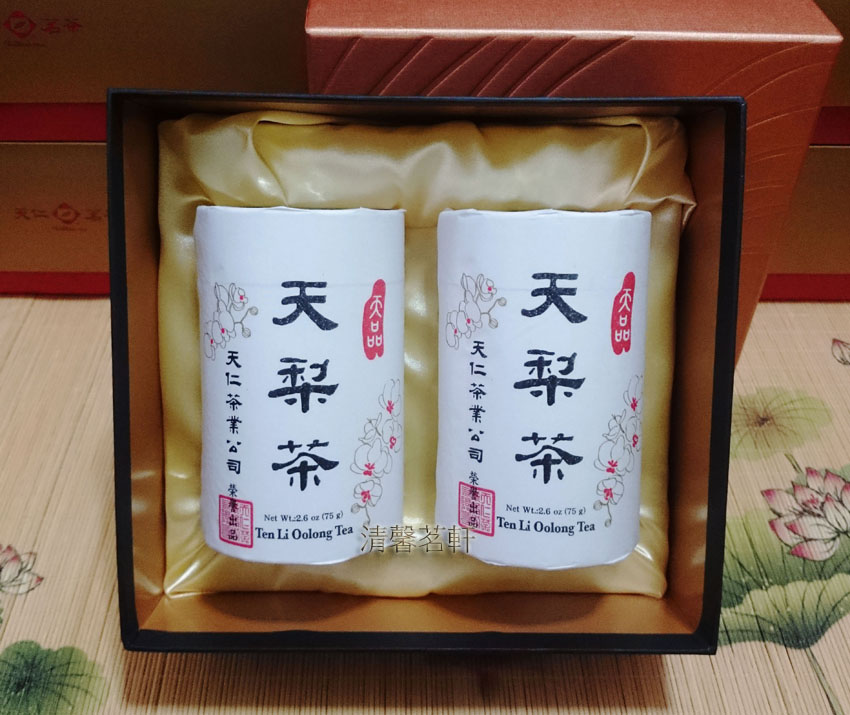 Taiwan Tianpin Pear Tea Oolong Tea Tianren Tea Tea Pear Gift Box 75gx2 Cans SF