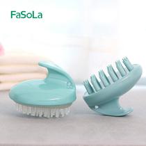 Fasola Hair Brush Silicone Massage Brush Comb Head and scalp Shampoo Comb