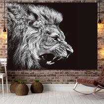 Photo mesh red wall cloth tapestry lion background cloth ins hanging cloth room student dormitory layout bedside decorative painting