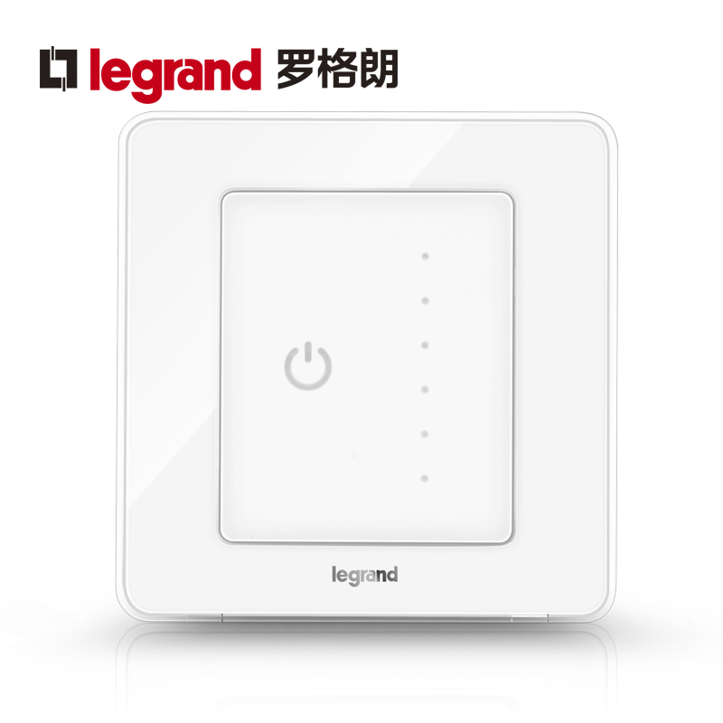 Legrand switch socket panel Yi Code ice white universal touch dimmer switch wall power type 86