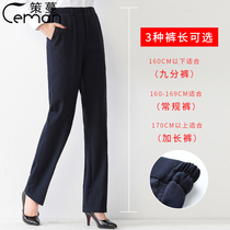 Womens professional overalls pants bank work blue black formal suit work pants suit spring and autumn straight tube size