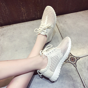 In the summer of 2017 Han mesh shoes with thick bottom all-match light sport shoes summer running Single Coconut breathable shoes