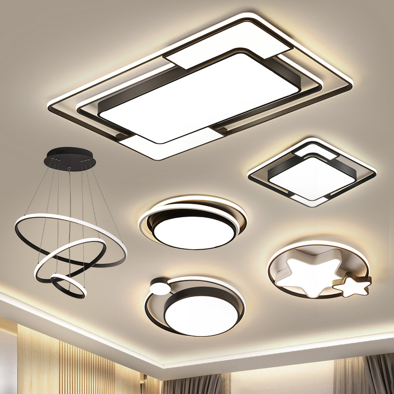 Living room lamp 2019 new simplified Modern Atmospheric household suite full-room set led ceiling lamps and lanterns