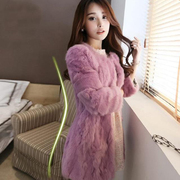 2017 autumn and winter new Korean fashion slim lady special offer clearance in the long section of rabbit fur coat