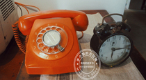 Old-fashioned old objects Dial dial turntable telephone Restaurant bar decoration collection nostalgic photography props ornaments