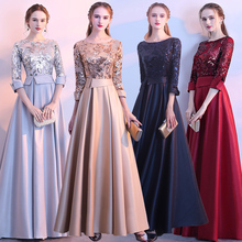 Grand Chorus Costume Female Character Evening Dress Host Noble Performance Banquet Evening Dress 2019 New Style