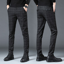 Autumn and winter new casual pants mens straight loose business pants slimmed down autumn pants mens Korean version of the trend