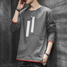 Men's Long Sleeve T-shirt, New Type of Sanitary Wardrobe, 2019, Loose Pure Cotton Autumn Fashion, Short Sleeve Autumn Men's Clothing