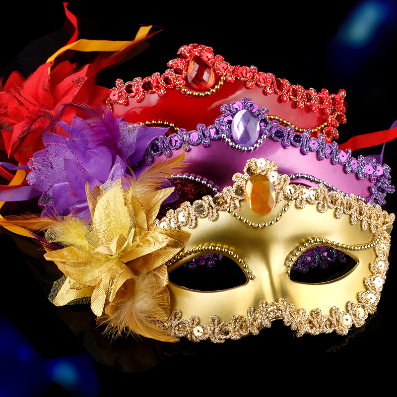 Cosplay,Halloween Mask for girl,Halloween children's masquerade mask half face sexy sexy adult mask female masquerade
