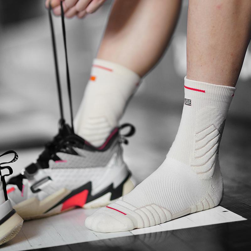 UZIS basketball socks mens sports socks high help in the barrel real combat towel bottom professional stocking elite socks bullfight 2.0