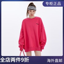 (Official website Spot) WE11DONE round neck embroidery loose casual plus velvet sweater Yang Mi same coat women