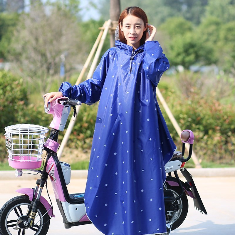[The goods stop production and no stock]Riding helmet cover,Rain proof, tram big size lady adult thickening rain extra large raincoat adult riding large mask with sleeve poncho