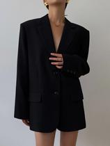 HUYIFAN black blazer women 2021 Spring and Autumn New Korean loose retro casual slim small suit