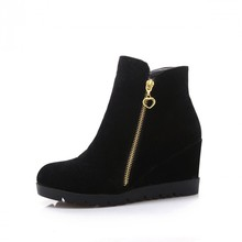 Qiu Dong female short boots beautiful Martin boots Korean version warm-keeping boots