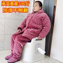 Amovible toilettes personnes âgées enceinte femme toilette ménage toilettes toilettes urinoir durine seau crachoirs peut transporter jusquà la nuit seau