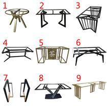 Wrought iron table legs Table legs bracket Metal table legs Coffee table desk Large plate table Rock plate Marble table legs shelf