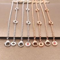 Suitable for necklace Single chain chain Little red man charity small waist spring men and women sterling silver accessories
