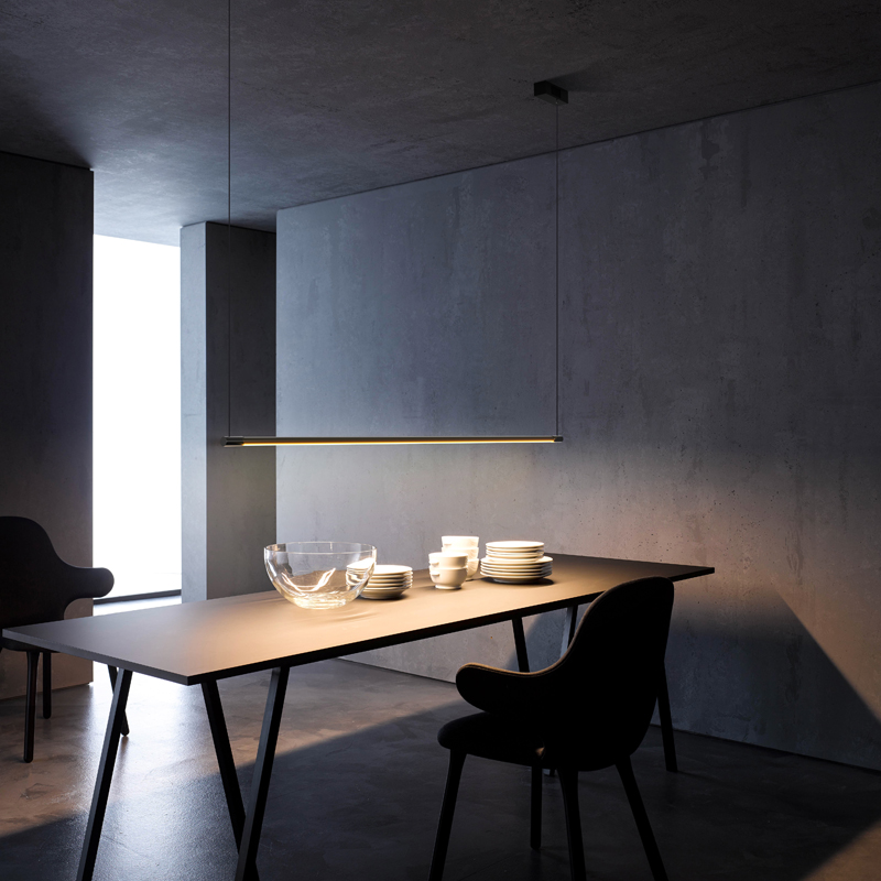 Minimalist Chandelier Restaurant, Dining Table, Bar Office, Modern Simple Creative Nordic Designer LED Strip Lighting