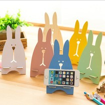 Bunny activities with custom Small Things mobile phone holder mobile phone holder seat frame printing advertising small department store trade City wooden