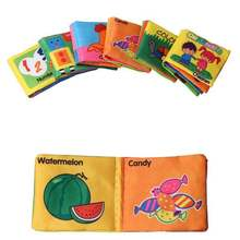 Baby Toys Soft Cloth Books Rustle Sound Infant Educational S