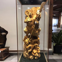Wood carving root carving piece factory Guanyin Mil like carved Gonglong Feng Taifeng Taifeng Cypress tea plate living room craft gift decoration mountain water