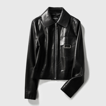 ^@^Rongmei (PC0708800) New color into the Netherlands H show style open mouth sheepskin classic jacket jacket leather