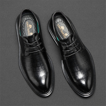 Autumn New Men's Shoes Korean Edition Youth Increased Suit Business Leather Shoes Men British Tip Leisure Shoes Men