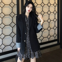 Early spring 2020 new small suit jacket female leisure temperament fat sister thin dress suit two sets