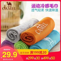 Camel cold feel ice towel professional sports sweat towel fitness men and women ice towel sweat yoga ice towel blanket